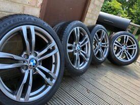 "Genuine Bmw 3 4 Series 18"" 441 M Sport Alloy Wheels & Tyres F30 31 32 33 E90 Z4 400m"