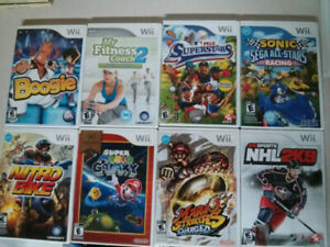 Nintendo Wii video game lot of 8 $30