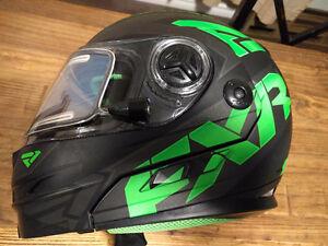 New FXR helmet black and green