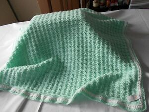 BRAND NEW HAND CROCHETED BABY BLANKETS ON SALE
