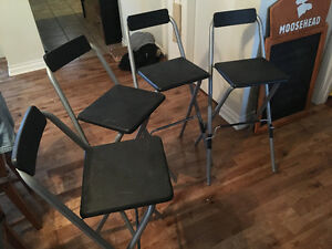 4 chaises-tabouret style bar