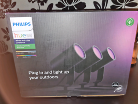 Philips Hue Lily White and Colour Ambiance LED 3X Spotlight Base Unit