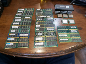Processors and Ram Lot