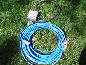 75' Extension Cord 12/3 with Lighted Plugs