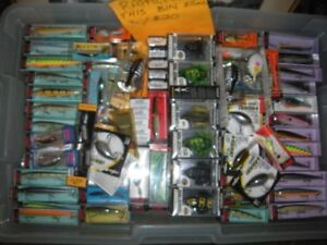 Huge fishing tackle equipment sale Sat Aug 18th lures line