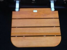 Disabled wall fixing Teak shower seat