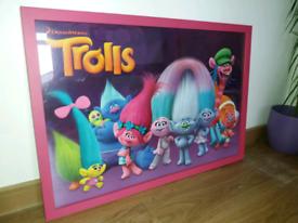 Trolls framed picture