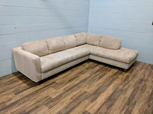 (Free Delivery) - Natuzzi microsuede sectional sofa