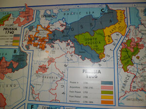 Roll Down Wall Map (Growth of Prussia and Modern Germany) Kitchener / Waterloo Kitchener Area image 2
