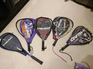Assorted Racquetball  & Squash Rackets - Lightly Used