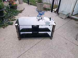 High end black glass/chrome TV Stand