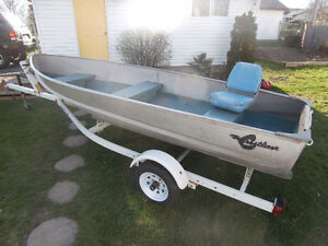 14' alum boat and trailer only.