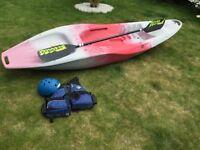 TEK Typhoon sit on top sea kayak