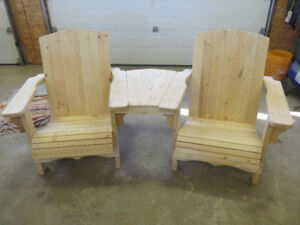 Two  Seat Adirondack Bench with Center Table