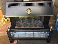 Electric 2 bar Log Fire Effect Heater