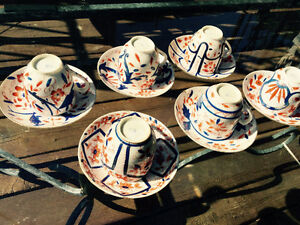 Six sets of old small teacups and saucers Kingston Kingston Area image 1