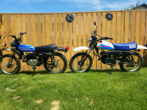 Two running Kawasaki KE100's 2 stroke enduros $2500 - make offer