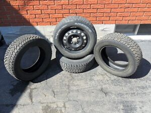 2 rims, 4 tires for sale