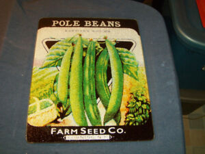 VINTAGE CORNING GLASS KITCHEN FOOD TRAY-FARM SEED CO.