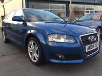 2009 09 Audi A3 1.9TDIe Sportback Sport 2 OWNERS 8 SERVICE STAMPS