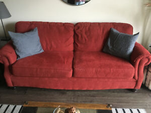 Red Sofa Couch Chesterfield