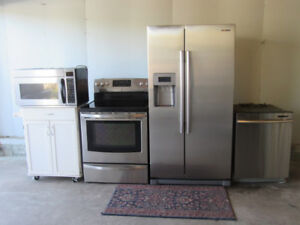 4 Piece Stainless Steel Appliances Set.