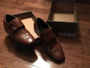 Boys dress shoes- worn once. Crazy good price.