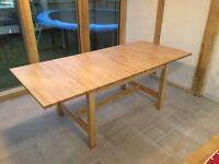 Ikea Norden extending birch table