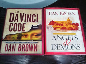 SET OF 2 DAN BROWN ILLUSTRATED BOOKS $25