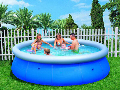 "Easy Fast Set 10ft x 30"" 10'foot Family Swimming Paddling Pool Garden Outdoor"