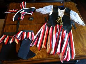 Girls pirate costume size M