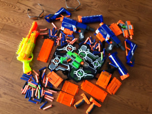 Nerf Guns with Lots of Accessories