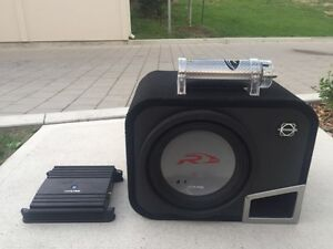 FOR SALE - 12 inch Sub, Amplifier, & Bass Capacitor