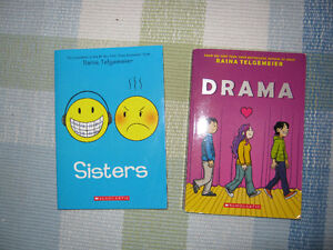 Sisters and Drama book by Raina Telgemeier