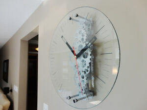 "Oversized 24"" Diameter Moving Gear Clock w/ Glass Face Kitchener / Waterloo Kitchener Area image 9"
