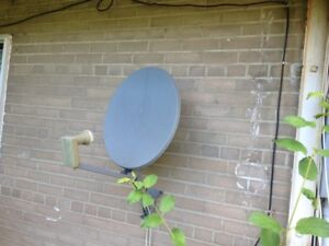 Bell Satellite dish with LNB and Cable