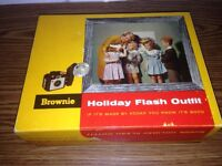 Kodak Brownie Holiday Flash Outfit Camera in box