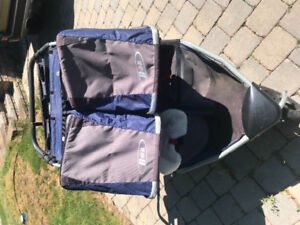 BOB double stroller -includes FREE rain cover & other accessorie