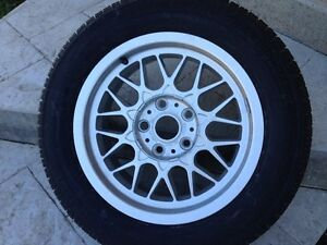 Original BMW Spare Tire with Rim on, Size 225/55 R16 95H