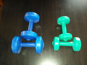 Two 5 Pound Dumbells and Two 2.5 Pound Dumbells
