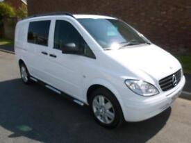 2010 Mercedes-Benz VITO 111 CDI COMPACT DUALLINER COMBI *NO VAT* Manual Crew Van