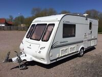 Compass Omega 480/2 L shape front touring caravan 2003 motor mover fitted