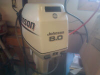 Like new 2002 8hp Johnson outboard with new tank