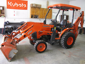 Kubota B-26 and L-45 with cab 4X4 loader backhoe