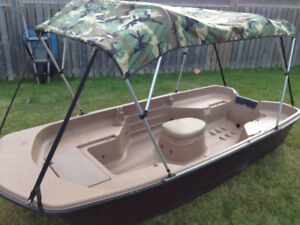 12 ft flat bottom boat with trailer PICS ADDED