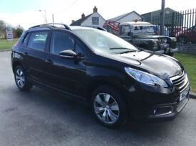 PEUGEOT 2008 1.2 ACTIVE 5 DOOR MPV 46000 MILES BLACK £30 TAX VERY CLEAN CAR