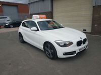 2013 BMW 1 SERIES 114 1.6 SPORT 3 DOOR PETROL ONLY 43,700 MILES WARRANTED F.S.H