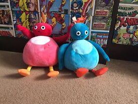 Twirlywoos Great Bighoo and Toodloo soft toys