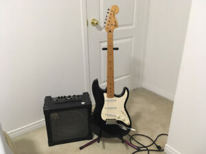 """Beginners """" 1969"""" Stratocaster Squier Electric Guitar -Amp"""
