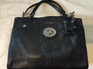 Coach Purse, Black Leather, Brand New